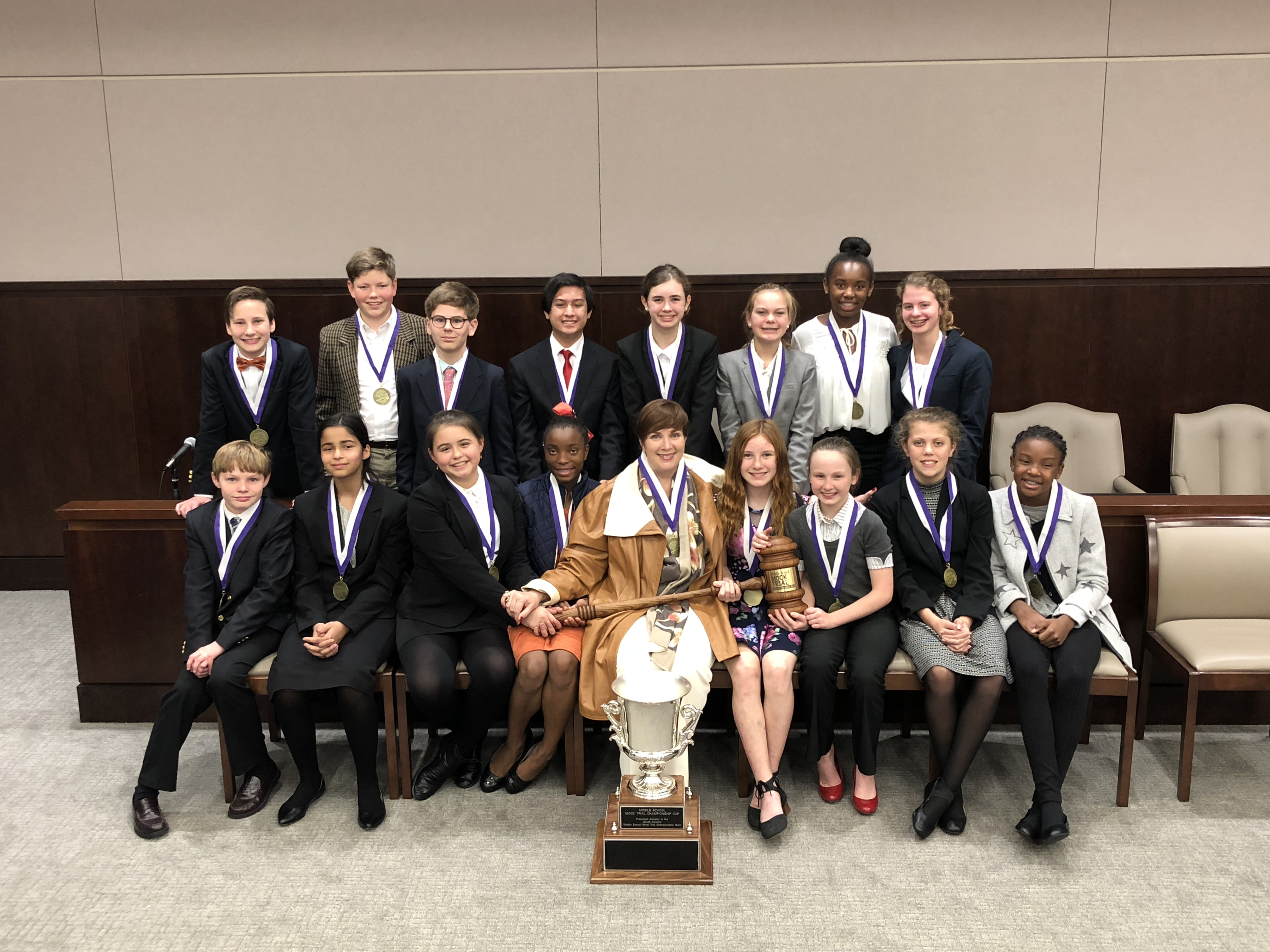State Middle School Mock Trial Competition History   South