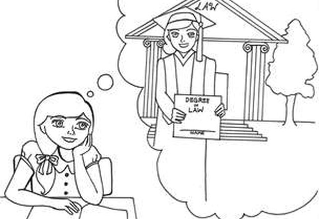 girl dreams - Elementary Coloring Sheets